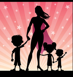 super mom 2 vector image vector image