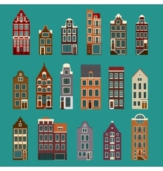 Typical European Houses vector image vector image