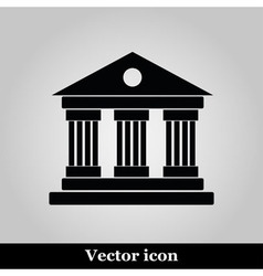University icon isolated on grey background vector