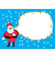 Xmas Santa Card vector image vector image