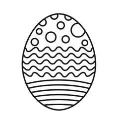 Sweet egg paint colorfull isolated icon design vector