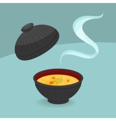 Hot cream soup vector