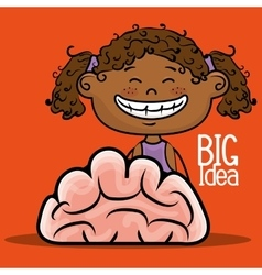 Girl idea intelligent vector