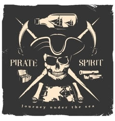 Pirates print or poster vector