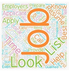 JH Learn how and where to look for jobs 1 text vector image