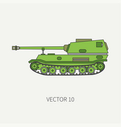 line flat color icon self-propelled vector image