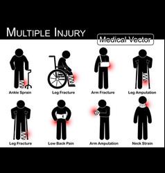 multiple injury set vector image