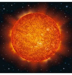 Sun in space vector