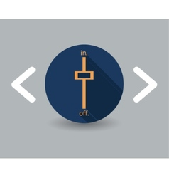 Switch on icon vector