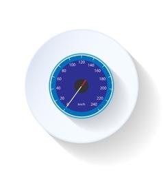 Speedometr flat icon vector image