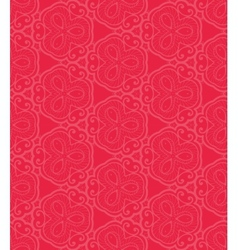 Red lace seamless pattern vector