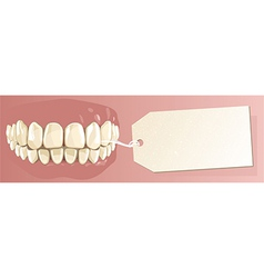 Teeth and label vector image