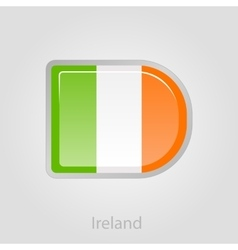 Ireland flag button vector