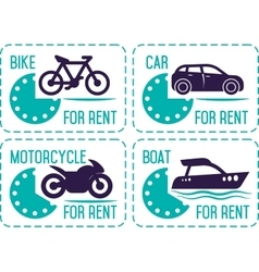 Rental car and other transport banners vector