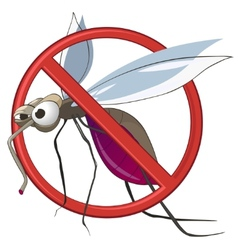 Cartoon stop mosquito vector