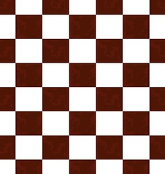 Brown grunge checkered pattern vector