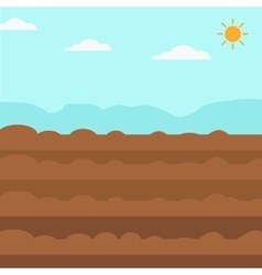 Background of plowed agricultural field vector