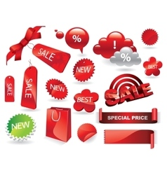 Sale Labels Shopping Stickers and Tags Set vector image