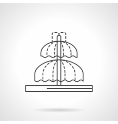 Domed fountain flat line icon vector