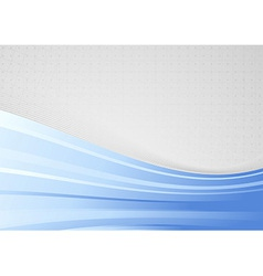 Abstract background with blue waves - folder vector image vector image