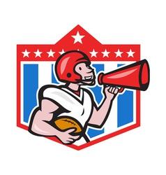 American football quarterback bullhorn cartoon vector