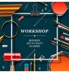 Artist workshop template vector image vector image