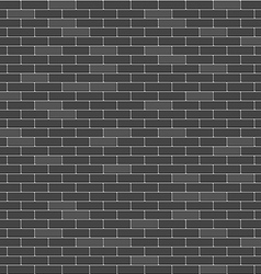 Black brick wall seamless pattern vector image