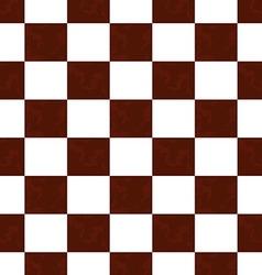 Brown grunge checkered pattern vector