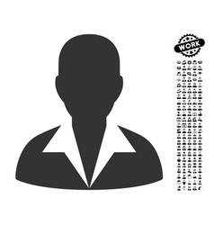 Clerk icon with people bonus vector