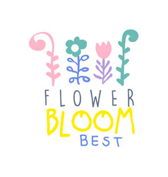 flower bloom best logo template element for vector image