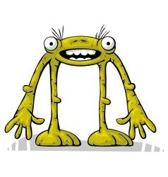 Green alien creature standing vector