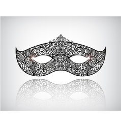Hand drawn lace mask masquerade logo icon vector