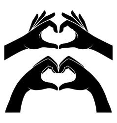 Hands in form of heart vector