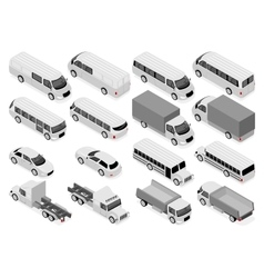 Isometric car icons vector