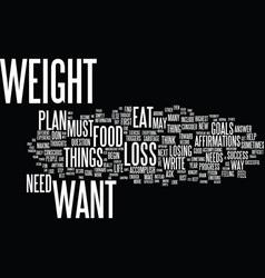 Lose the weight you want forever text background vector
