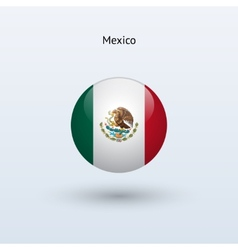 Mexico round flag vector