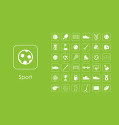 set of sport simple icons vector image