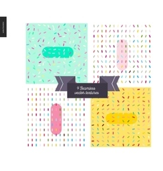 Sprinkles paterrns and ribbon vector