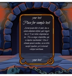 Stone hearth and frame for sample text vector