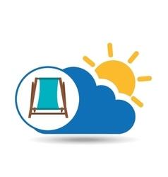 Summer vacation design beach chair icon vector