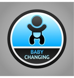 Symbol baby changing vector image