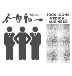 Team icon with 1000 medical business symbols vector