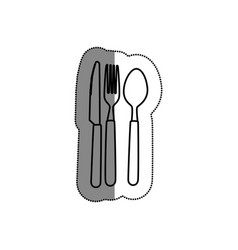 Kitchen cutlery menu icon vector