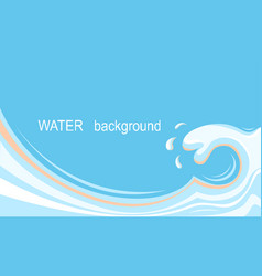 Water splash background for text vector