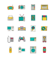 Electronics and gadgets icons set vector