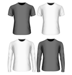 Long-sleeved and short-sleeved vector