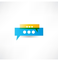 Saying something icon vector