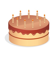 Cute cartoon birthday cake vector