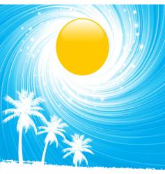 Summer sky and palm trees vector