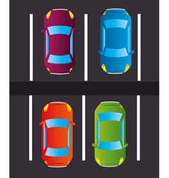 Parking zone design vector